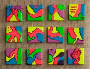 JJ BD neon mini-paintings 20140528